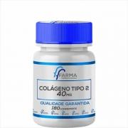 Colágeno Tipo 2 40mg Com 180 Comprimidos