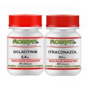 Itraconazol 50mg + Oclacitinib 5,4 mg 2x30 Cps Uso Veterinário
