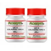 Kit UC II (Colágeno Tipo II) 40 mg Pote 60 Comprimidos + UC II (Colágeno Tipo II) 20 mg Pote 60 Cápsulas - Uso Veterinário