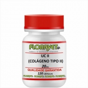 UC II (Colágeno Tipo II) 20 mg Pote 120 Cápsulas - Uso Veterinário