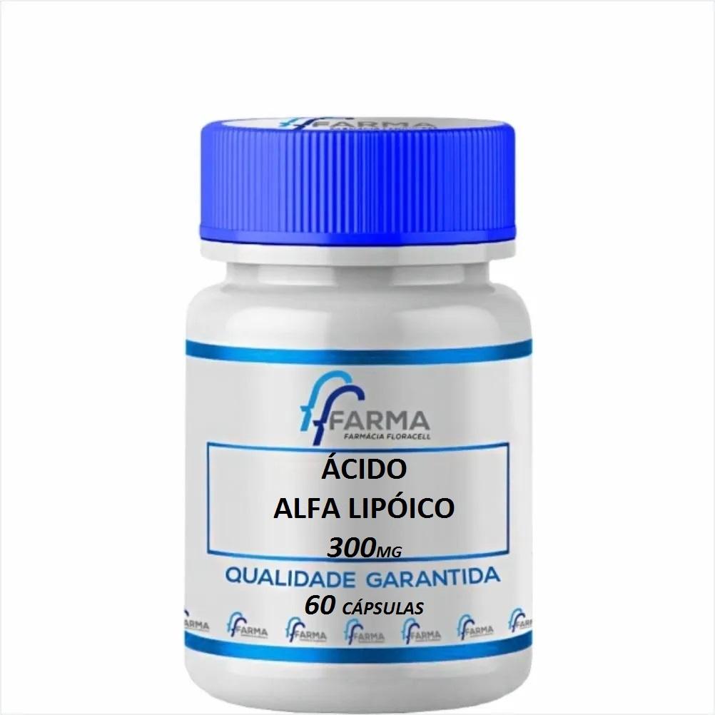 Ácido Alfa Lipóico 300 mg 60 Cápsulas