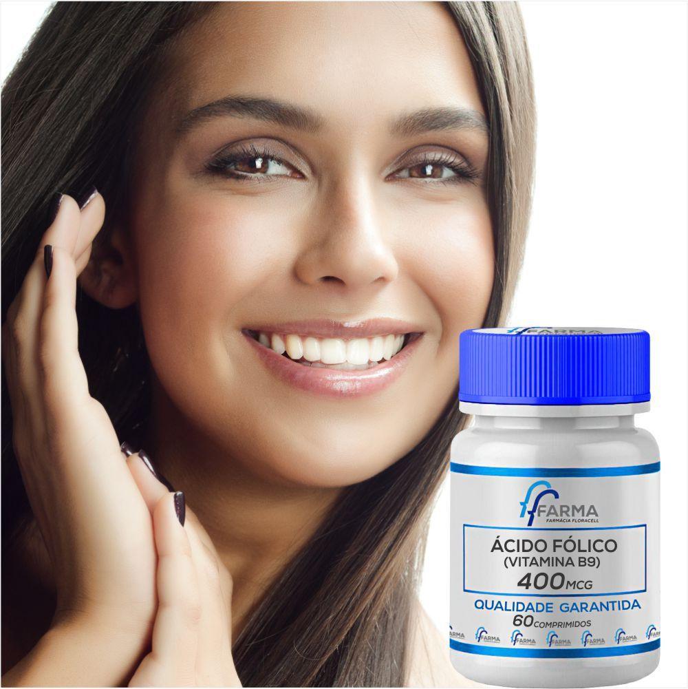 Ácido Fólico 400mcg 60 Comprimidos (vitamína B9)