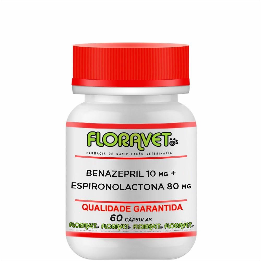 Benazepril 10 mg + Espironolactona 80 mg Pote 60 Cápsulas - Uso Veterinário