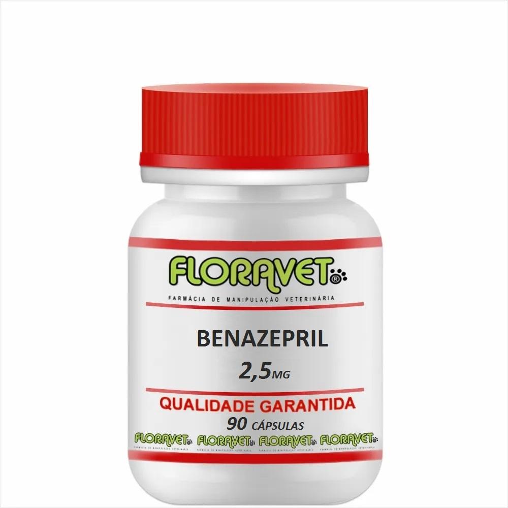 Benazepril 2,5 mg Pote 90 Cápsulas - Uso Veterinário
