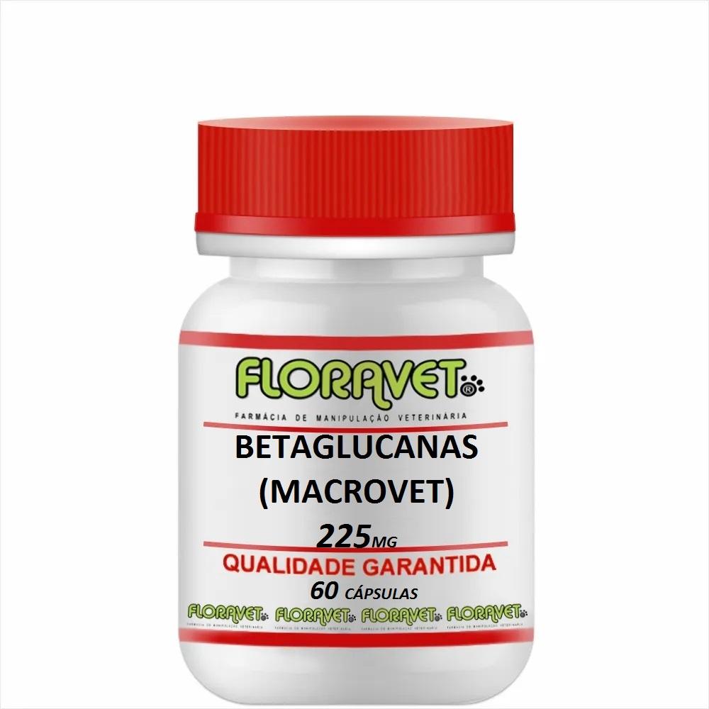 Betaglucanas (MACROVET) 225 mg Pote 60 Cápsulas - Uso Veterinário