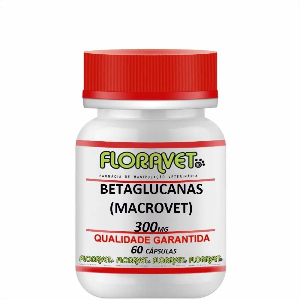 Betaglucanas (MACROVET) 300 mg Pote 60 Cápsulas - Uso Veterinário
