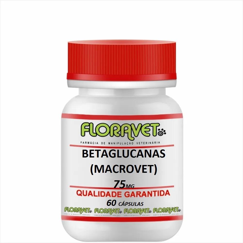 Betaglucanas (MACROVET) 75 mg Pote 60 Cápsulas - Uso Veterinário