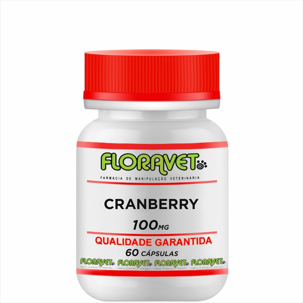 Cranberry 100 mg Pote 60 Cápsulas - Uso Veterinário