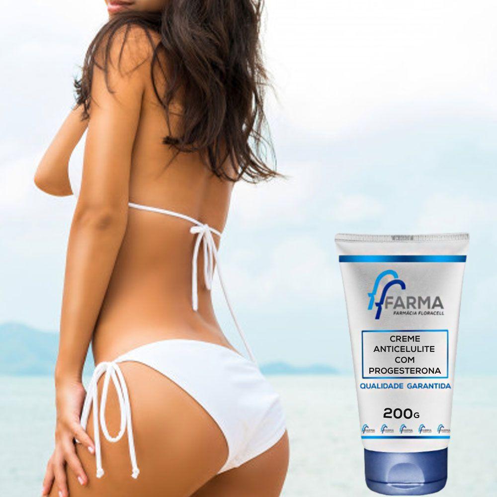 Creme Anticelulite Com Progesterona 200g