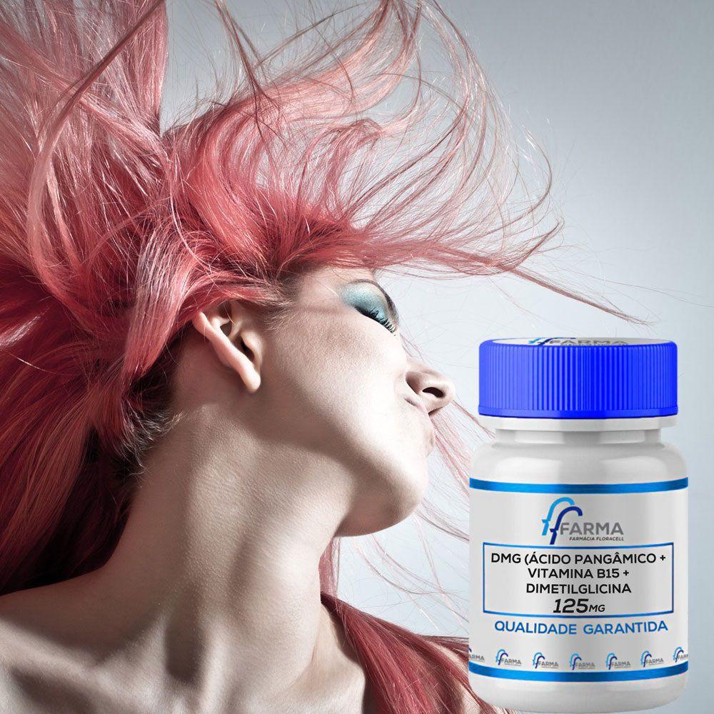DMG (Ácido pangâmico, Vitamina B15, Dimetilglicina) 125mg 60 Cápsulas