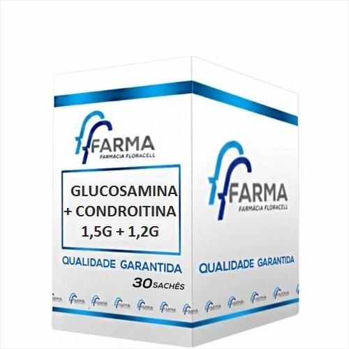 GLUCOSAMINA 1500 mg + CONDROITINA 1200 mg 30 SACHÊS SABOR LARANJA