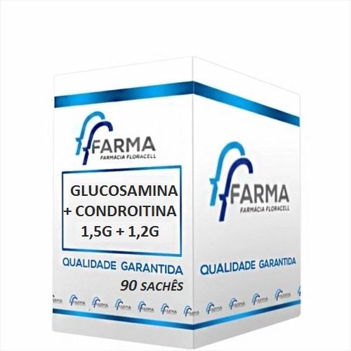 GLUCOSAMINA 1500 mg + CONDROITINA 1200 mg 90 SACHÊS SABOR LARANJA