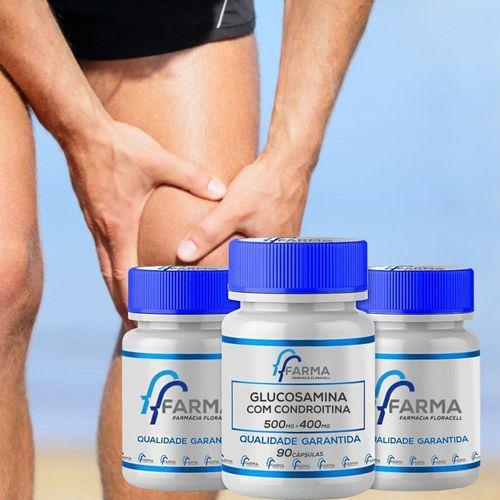 Glucosamina 500mg + Condroitina 400mg 90 Cápsulas