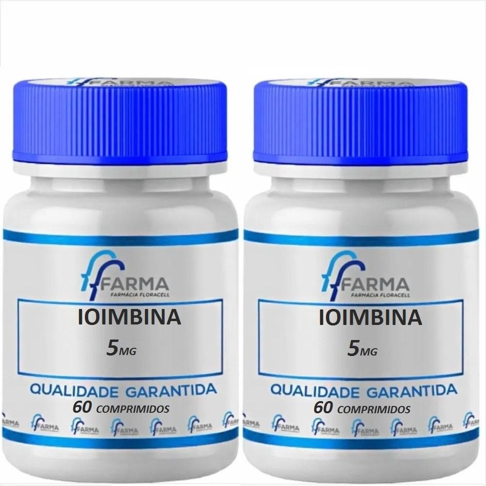 Ioimbina 5mg 60 Comprimidos 2 Potes