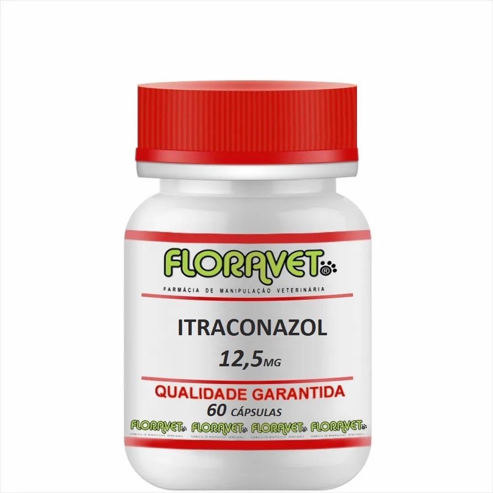 Itraconazol 12,5 mg Pote 60 Cápsulas - Uso Veterinário