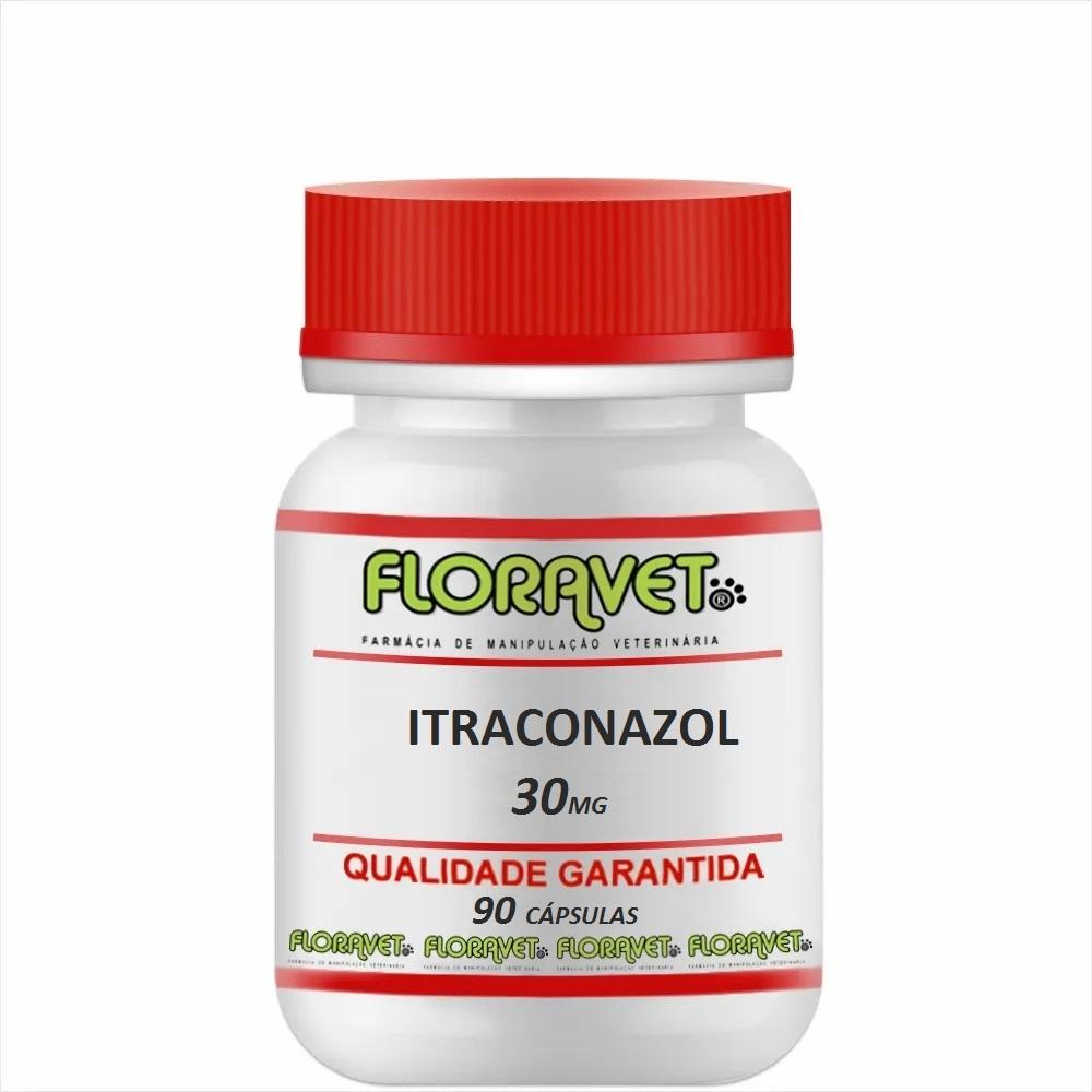 Itraconazol 30 mg Pote 90 Cápsulas - Uso Veterinário