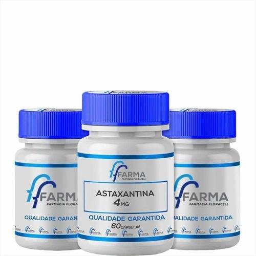 Kit 3 Astaxantina 4Mg 60 Cápsulas