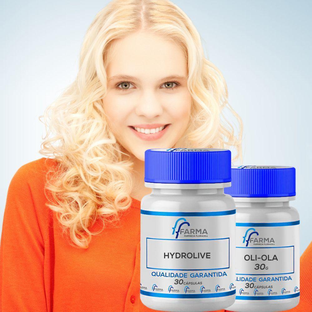 Kit Oli Ola 30 Cápsulas + Serum de Hydrolive 30 gramas