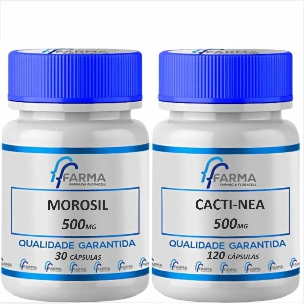 Morosil 500mg 30 Cápsulas + Cactinea 500mg 120 Cápsulas