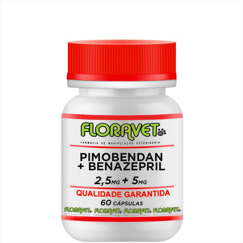 Pimobendan 2,5 mg + Benazepril 5 mg Pote 60 Cápsulas -  Uso Veterinário