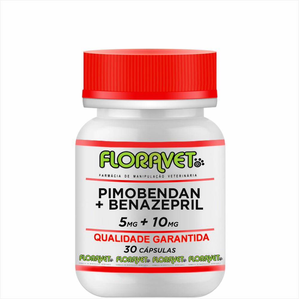 Pimobendan 5 mg + Benazepril 10 mg Pote 30 Cápsulas - Uso Veterinário