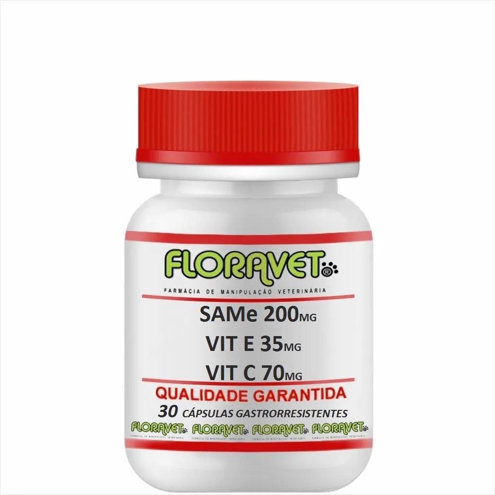 SAMe 200 mg + Vit. E 35 mg + Vit. C 70 mg Pote 30 Cápsulas Gastrorresistentes - Uso Veterinário