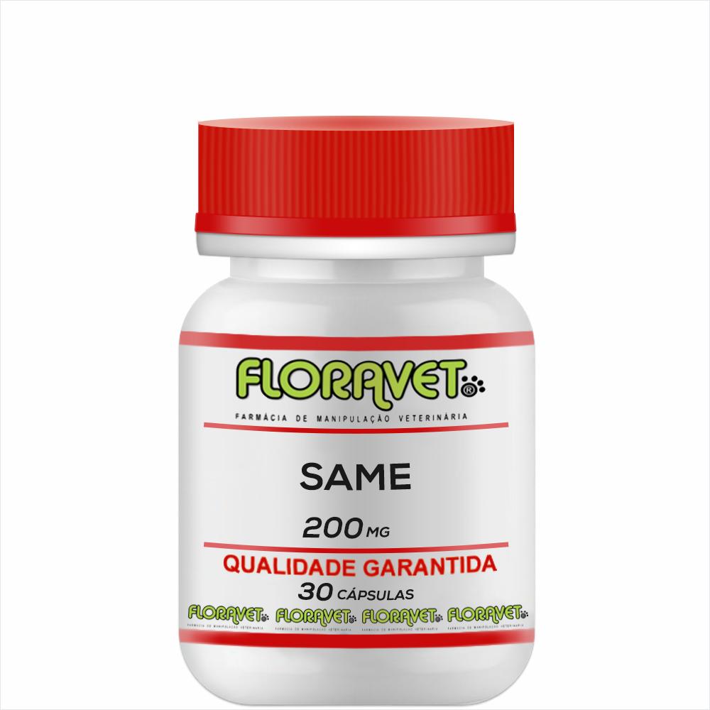 SAMe (S-Adenosil-L-Metionina) 200mg Pote 30 Cápsulas - Uso Veterinário
