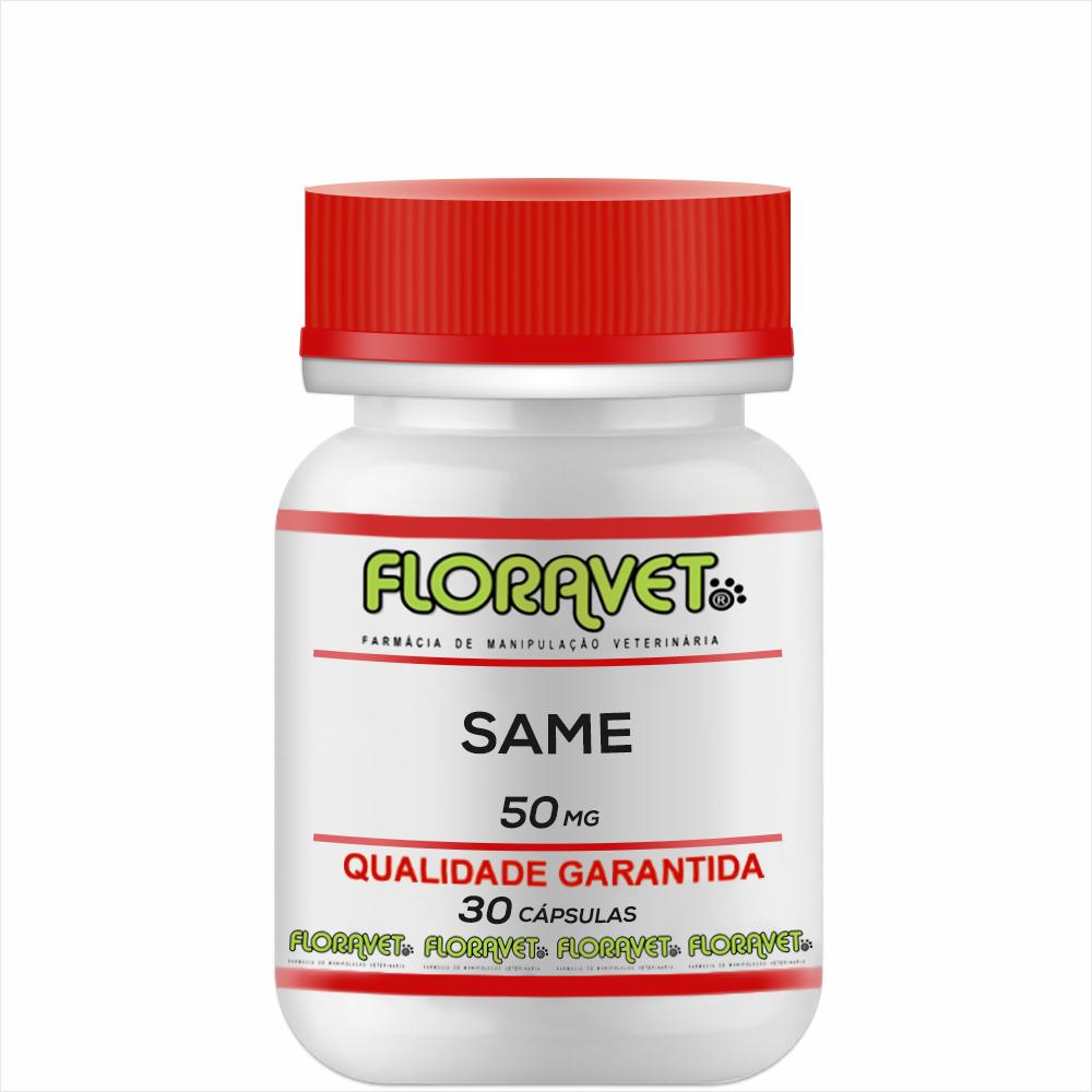 SAMe (S-Adenosil-L-Metionina) 50mg Pote 30 Cápsulas - Uso Veterinário