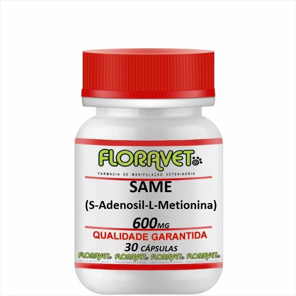 SAMe (S-Adenosil-L-Metionina) 600mg Pote 30 Cápsulas - Uso Veterinário