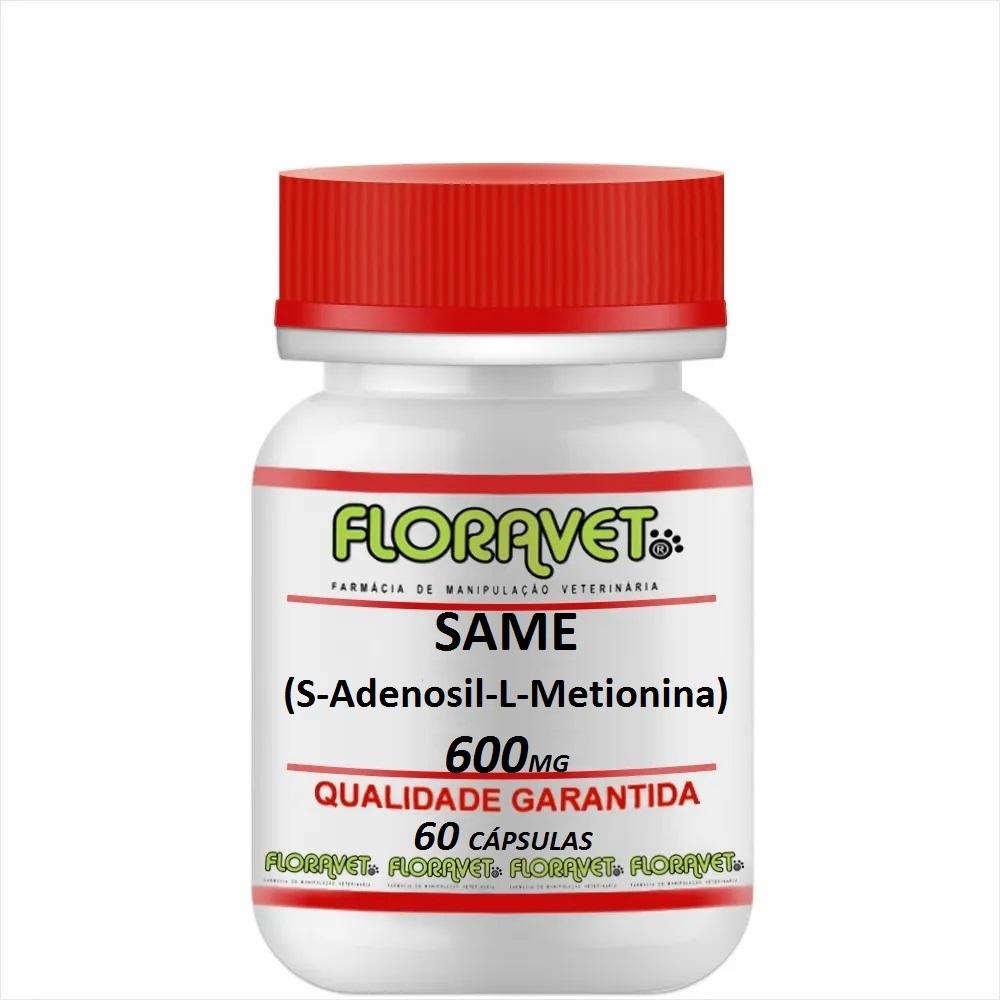 SAMe (S-Adenosil-L-Metionina) 600mg Pote 60 Cápsulas - Uso Veterinário