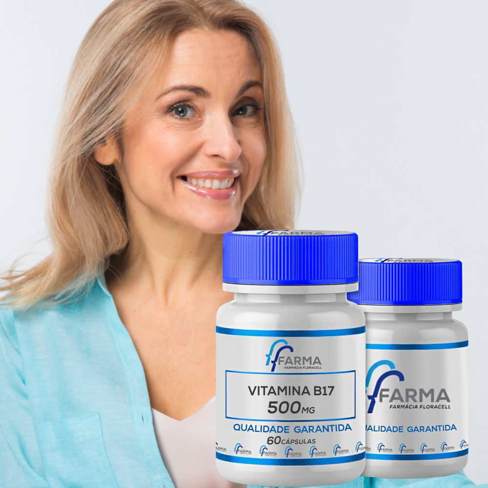 Vitamina B17 Novodalin 500mg Nucleo Da Semente De Damasco 120caps