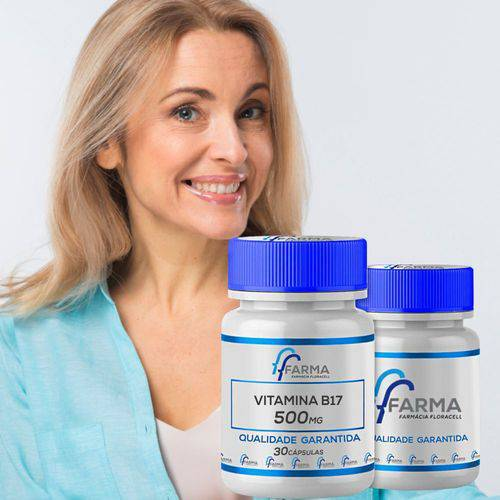 Vitamina B17 Novodalin 500mg Nucleo Da Semente De Damasco 60caps