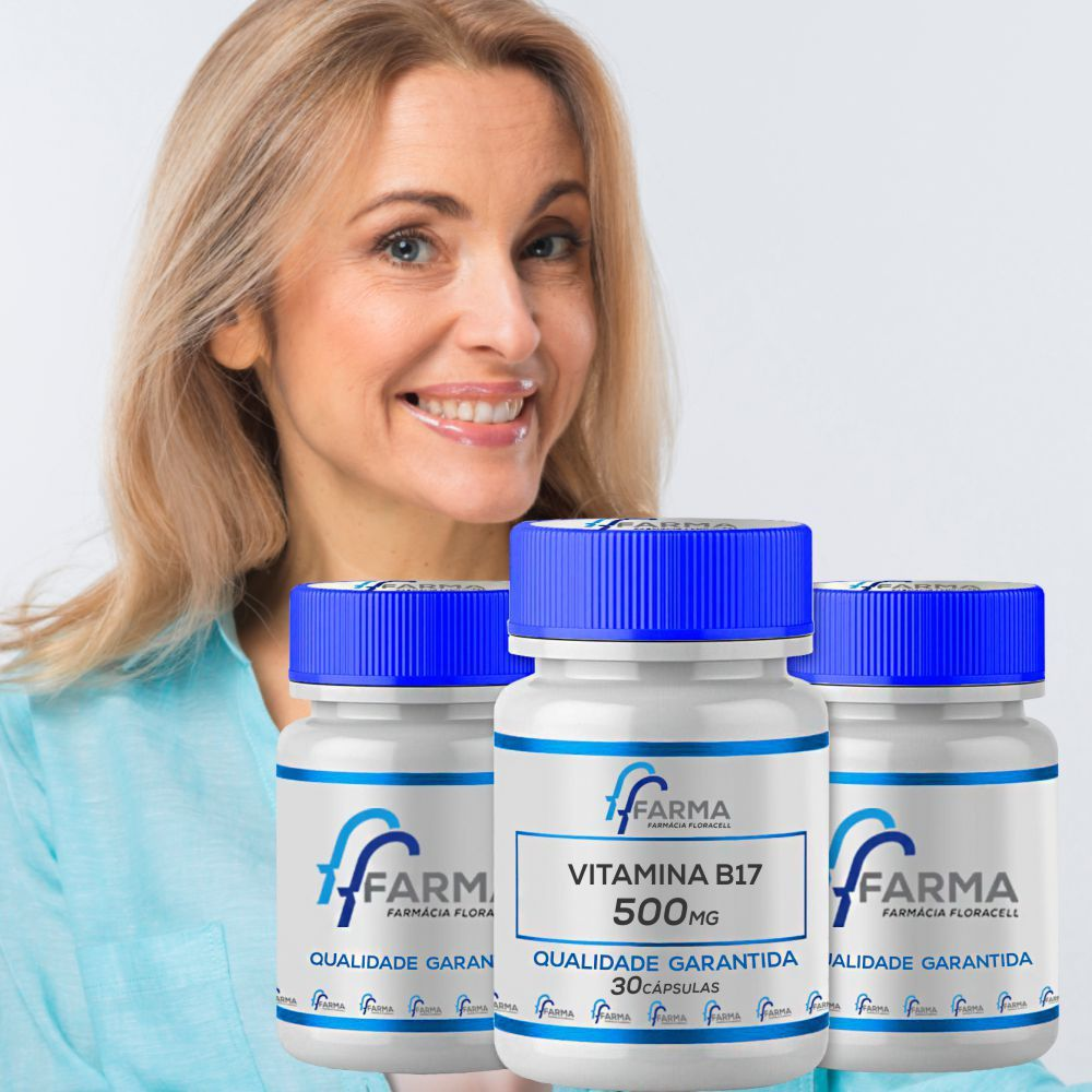Vitamina B17 Novodalin 500mg Nucleo Da Semente De Damasco 90caps