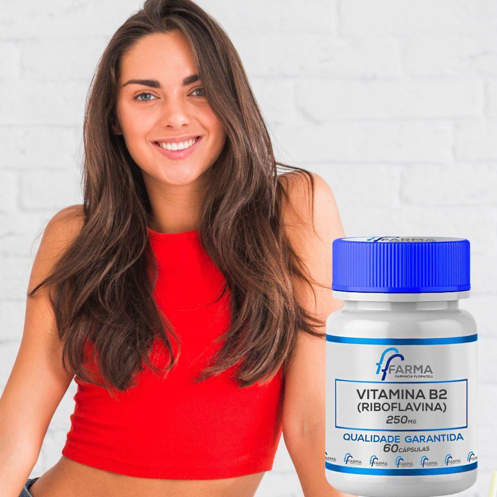 Vitamina B2 (Riboflavina) 250mg 60 Cápsulas
