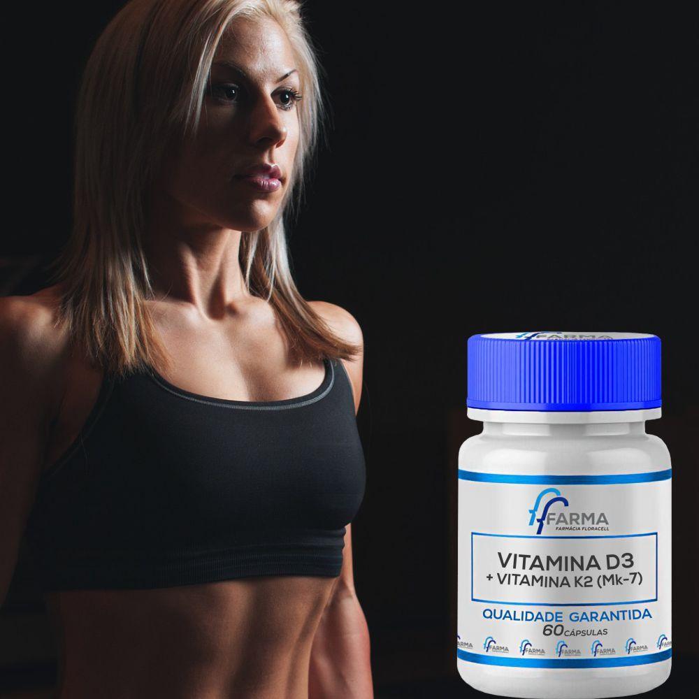 Vitamina D3 + Vitamina K2 (Mk-7) 60 Cápsulas