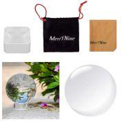 Bola de cristal de fotografia com suporte e bolsa