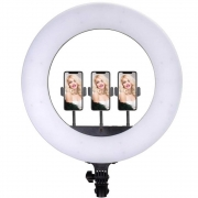 LED RING LIGHT CL-18 COM SUPORTE PARA 03 SMARTFONES