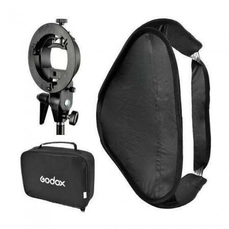 SOFTBOX 60X60 COM SUPORTE BOWENS