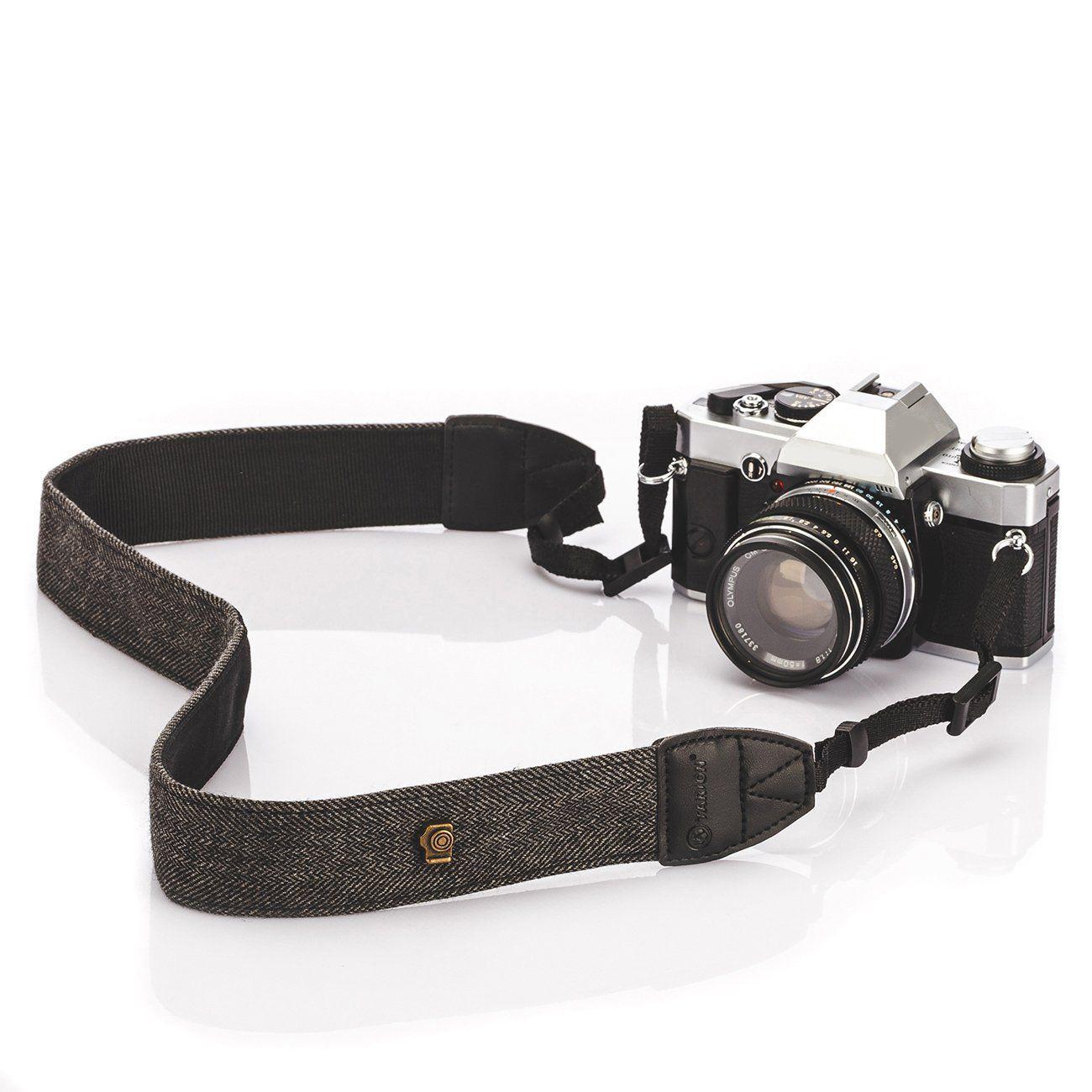 Alça base couro para Camera – Cinza