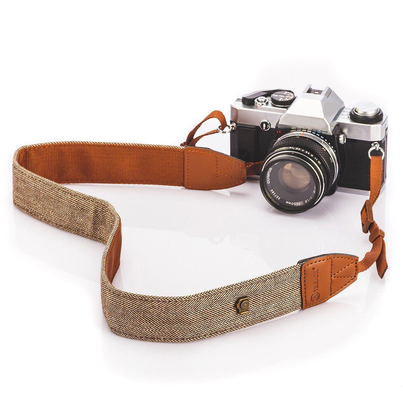 Alça base couro para Camera – Marron