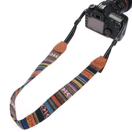 Alça base nylon para Cameras – étnica