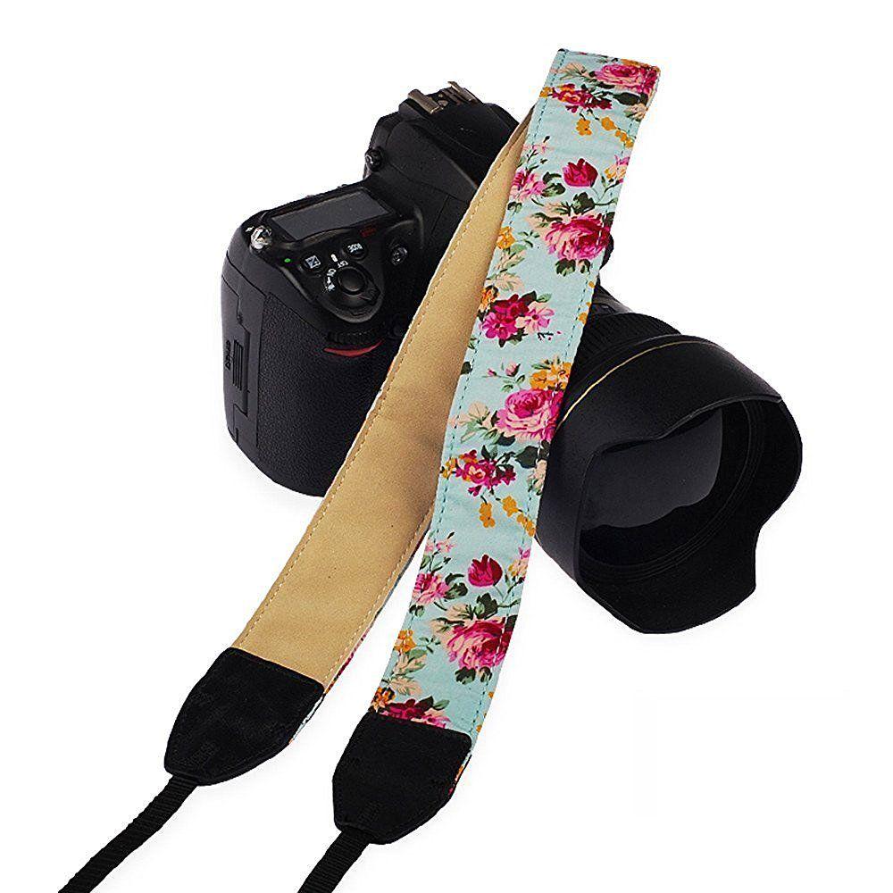 Alça base nylon para Cameras – Floral