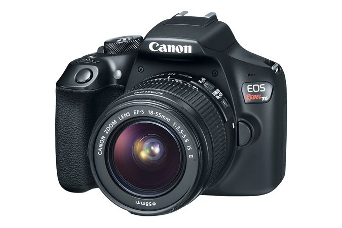 Camera Canon Dslr Eos Rebel T6 Com Lente 18-55mm