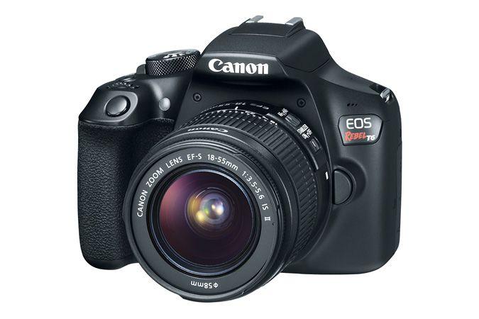 Camera Canon Dslr Eos Rebel T6 Com Lente 18-55mm