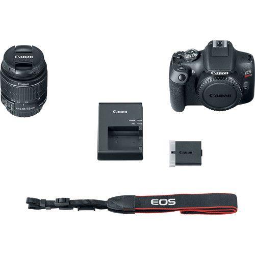 Camera Canon Dslr Eos Rebel T7 Com Lente 18-55mm