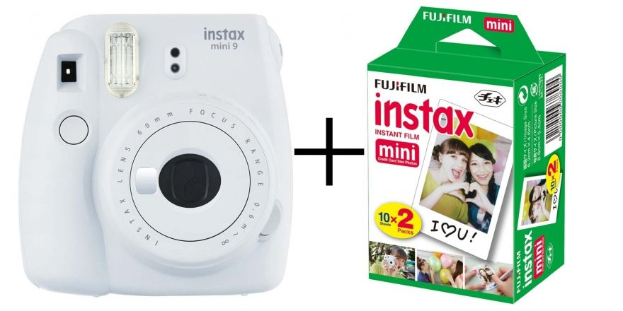Câmera Instantânea Fujifilm Instax Mini 9 Branco Gelo + Pack 20 Fotos
