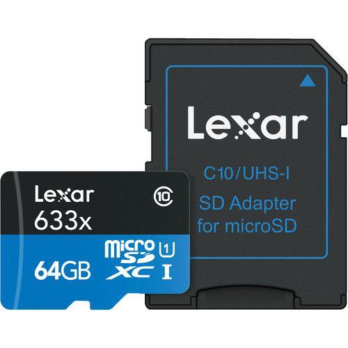 Cartão Micro SD Lexar 64gb 633x