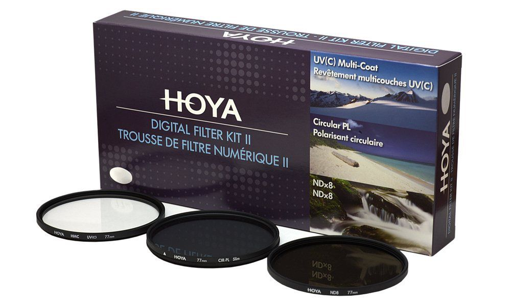 Filtro UV CPL ND8 Hoya kit 77mm