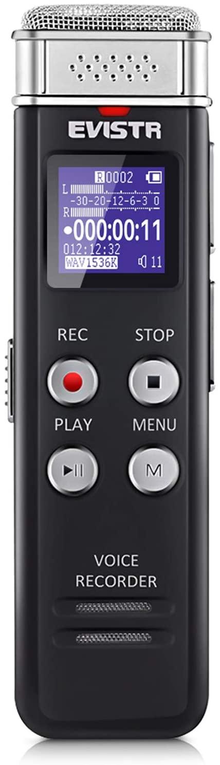 GRAVADOR DE AUDIO EVISTR 16GB DIGITAL (SIMPLES)