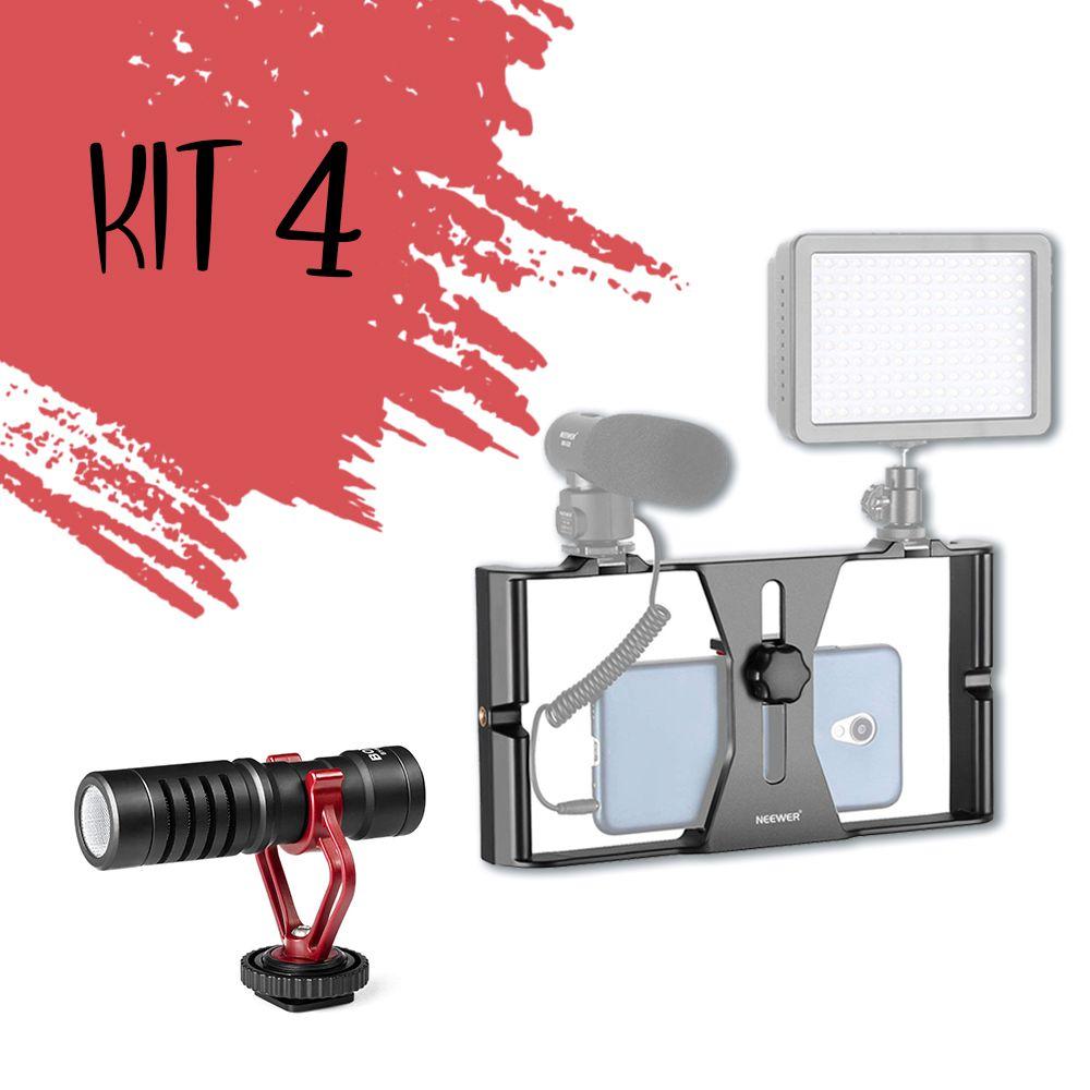 Kit Turbine seu celular (Estabilizador Rig + Microfone)